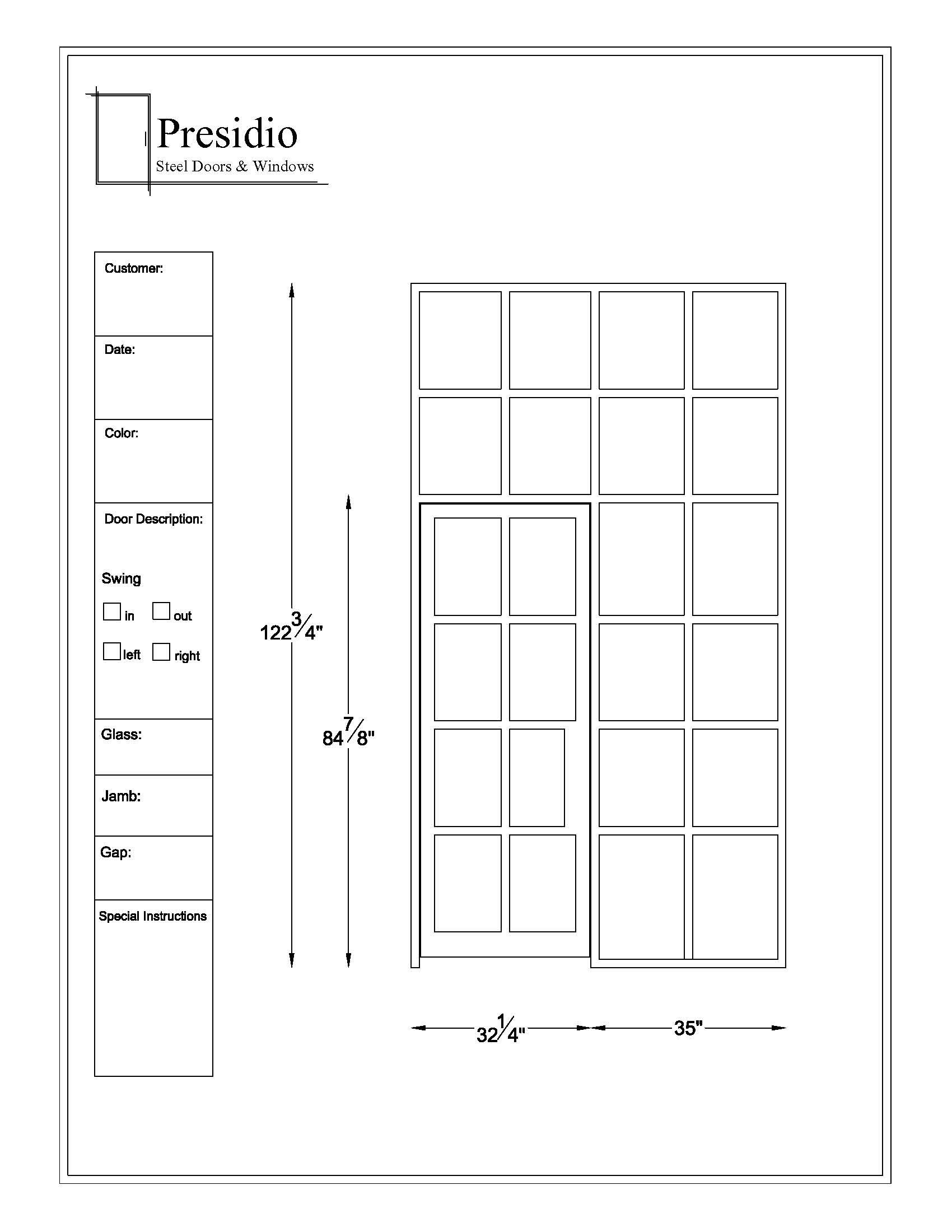 Single Doors  sc 1 st  Presidio Doors & Presidio Doors - Custom Steel Doors \u0026 Windows - CAD Drawings