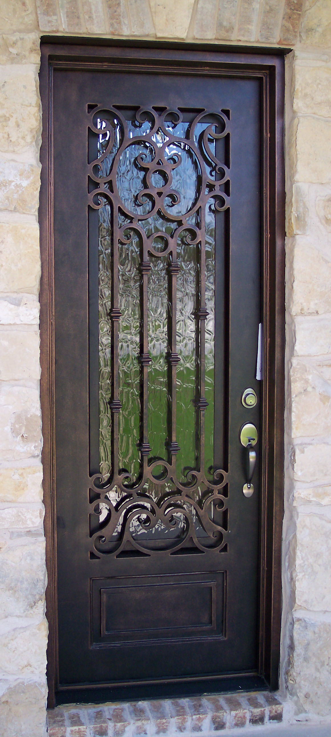 Custom iron ornate door designs presidio steel doors for Doors for front door
