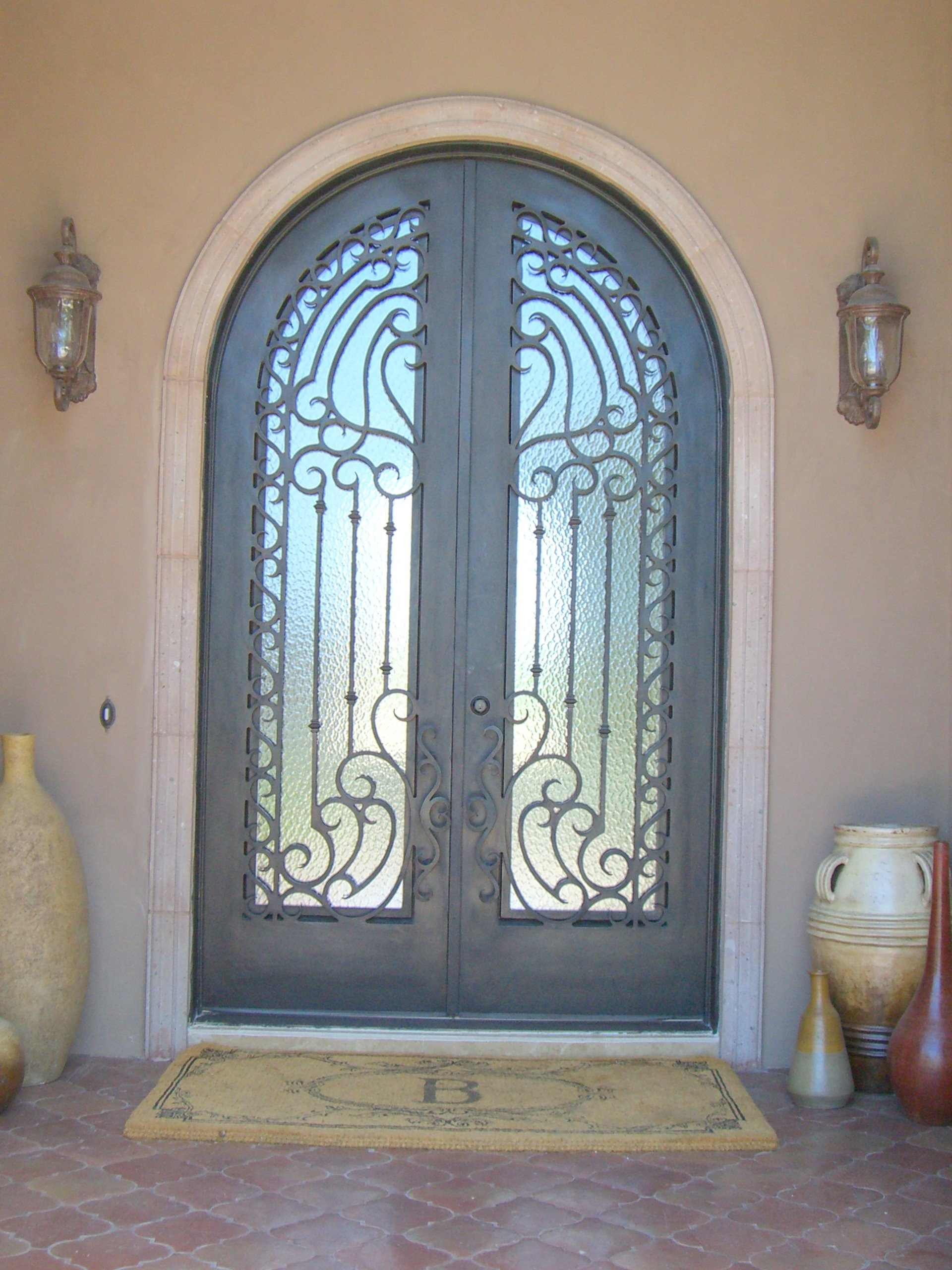 Custom iron ornate door designs presidio steel doors for Take door designs